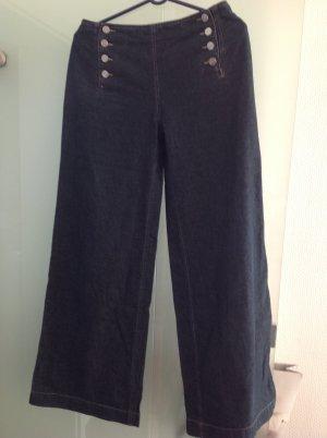 Schöne dunkelblaue  Marlene Jeans in Gr. 38, maritimer Stil