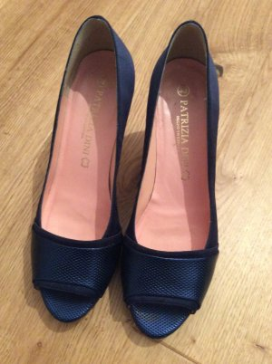 Patrizia Dini Peep Toe Pumps dark blue