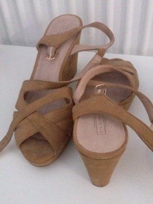 5th Avenue Sandalias beige Cuero