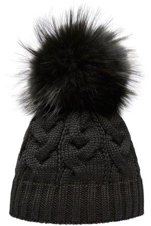 Pavuna Chapeau en tricot noir