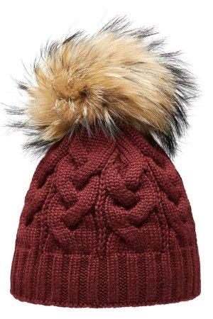 Pavuna Chapeau en tricot bordeau
