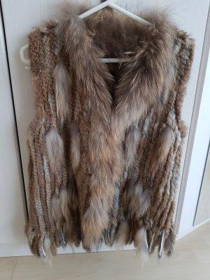 Frieda & Freddies New York Smanicato di pelliccia marrone chiaro-marrone