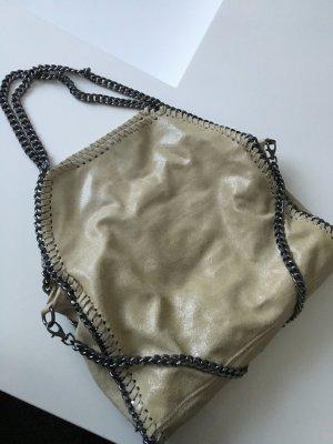 Schöne Echtledertasche in beige