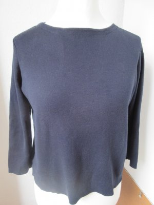 COS Jersey de cuello redondo violeta amarronado-azul