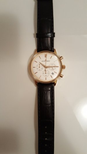Jacques Lemans Watch With Leather Strap black leather
