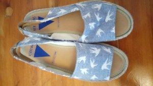 Espadrille sandalen leigrijs-lichtblauw