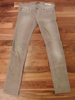 Sisley Corduroy Trousers beige-light brown cotton