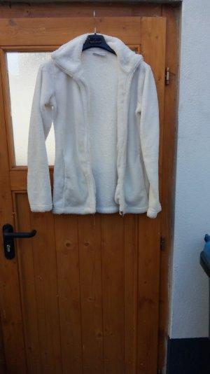 Giacca di pelliccia bianco Poliestere