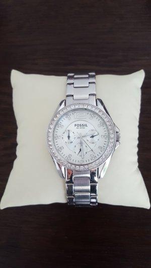 Schöne fossil Uhr in silber