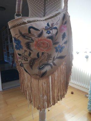 Accessorize Fringed Bag beige