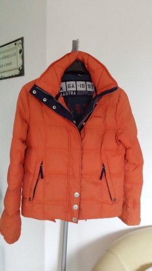 Schöne Gaastra Daunenjacke Winterjacke Jacke Sport Polo Orange Kapuze 36 38