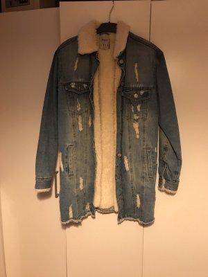Schöne gefütterte Jeans Jacke