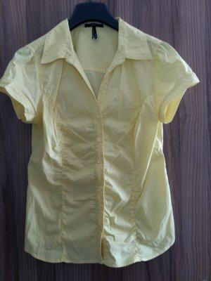 Schöne gelbe Kurzarm-Bluse von Zero in Größe 40