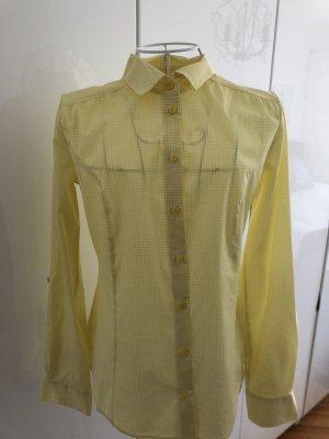 schöne gelbweiskarierte Bluse- Esprit Collection - 36