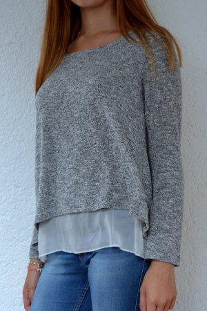 Schöne graue Bluse mit verspieltem Rücken :)