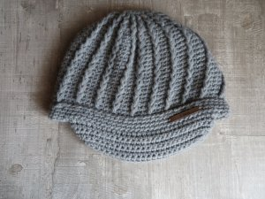 Barts Crochet Cap grey-light grey polyacrylic