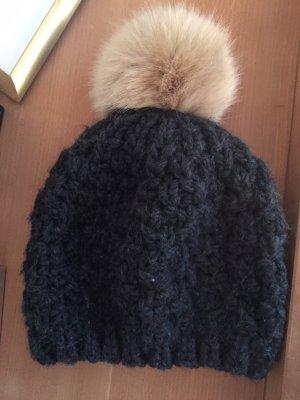 Edc Esprit Sombrero de punto gris oscuro