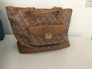 Schöne große Handtasche von DKNY in beige / Cognac