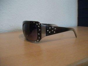 Gafas marrón-negro-color plata