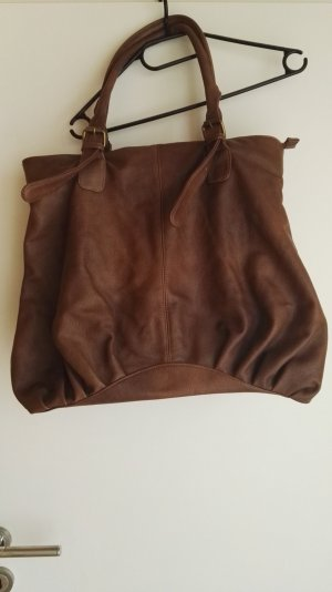 Pieces Carry Bag cognac-coloured imitation leather