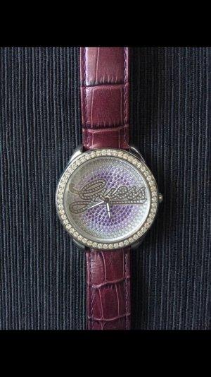 Schöne Guess Uhr lila
