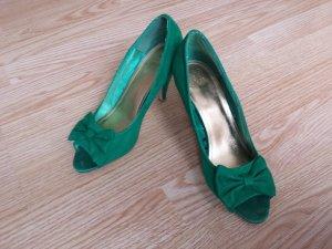 H&M Tacones con punta abierta verde bosque-verde