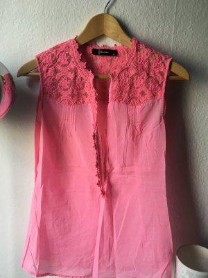 Schöne Hallhuber ärmellose Bluse in pink