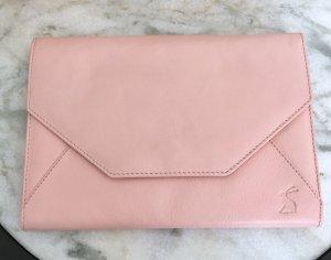 Schöne Handgelenk Leder Clutch Abendtasche rosa von Joules