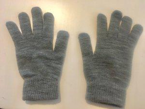 Guantes gris claro-gris