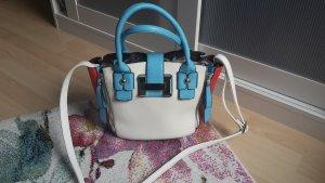 Schöne Handtasche in weiß/rot/blau