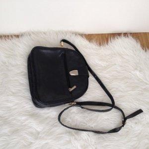 Schöne Handtasche schwarz gold Vintage Valentino