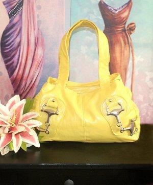 Handbag yellow-pale yellow