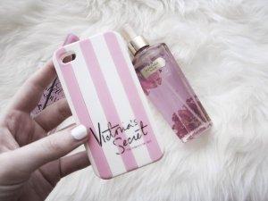 Schöne Handyhülle von Victorias Secret Iphone 4 S / 4 pink weiß Iphonehülle