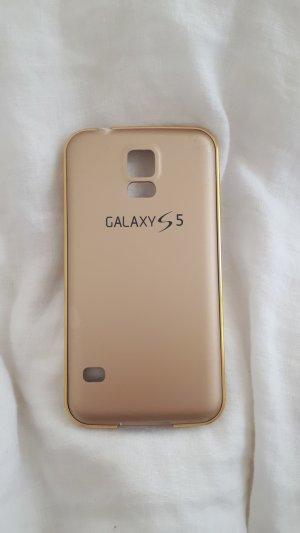 Hoesje voor mobiele telefoons wit-goud