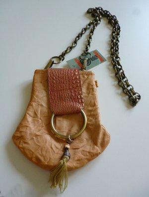 Mini Bag sand brown-dark orange leather