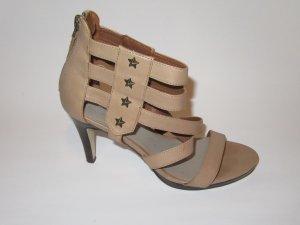 Hanna White High Heel Sandal grey brown-brown