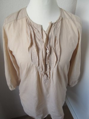 Marie Lund Ruche blouse veelkleurig Katoen