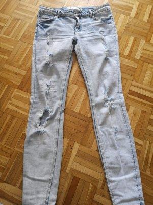 Pantalon cigarette bleu azur