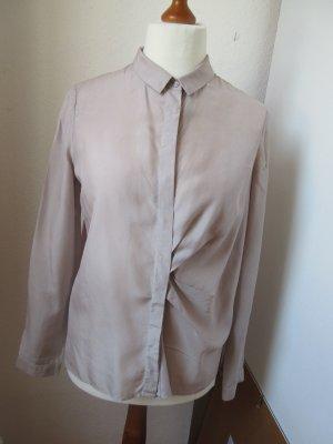 COS Blusa-camisa color plata Seda
