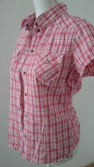 Blend Shirt met korte mouwen wit-magenta