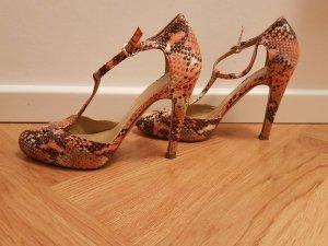 Alba Moda High Heels orange leather