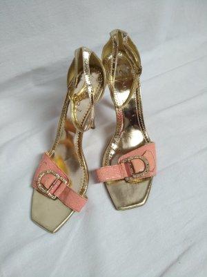 Alisha Tacco alto oro-rosa