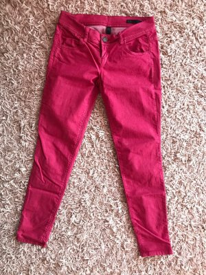 Benetton Jeans Drainpipe Trousers raspberry-red