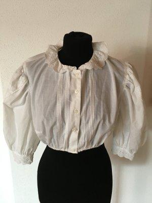Schöne hochgeschlossene Vintage Bluse 42