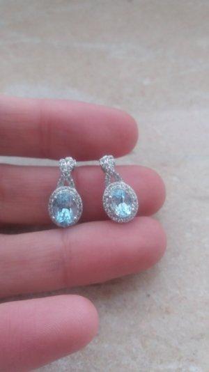Schöne hochwertige Ohrringe aus Silber mit Topas