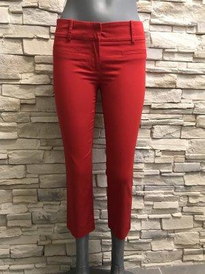 Zara Pantalón tobillero rojo