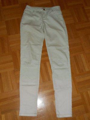 Be only Pantalón de cinco bolsillos verde pálido-blanco puro Algodón