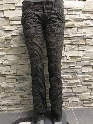 Esprit Pantalón de campana marrón claro-marrón-negro