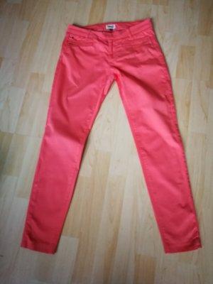 Tommy Hilfiger pantalón de cintura baja rojo claro