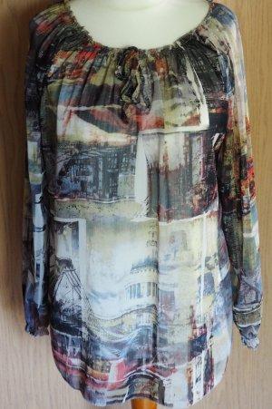 Schöne italienische Bluse mit unterschiedlichen Tragevarianten